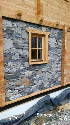 Rustikale Steinfassade aus Kunststein von Stonepack