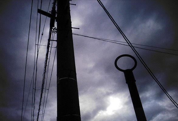 cloudy skyにマル