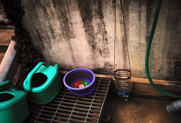 水道水を受ける場所