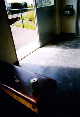 無人駅にて