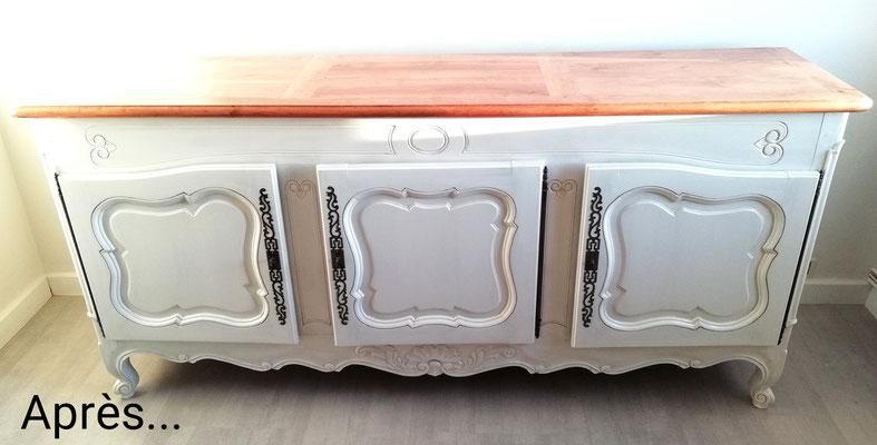 Rénovation, peinture et patine sur meubles -Verrerie ...