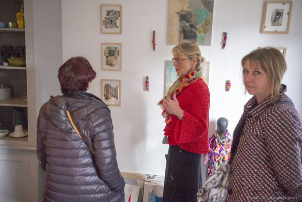 Veronïk BEAUCÉ, avec Brigitte GARCIA (de dos) et Veronique SPENLÉ.