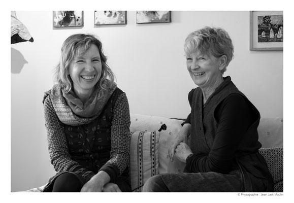 ©JJM-DSCF3204R-Fanny Pallaro et Doreen Le Marinel, dans l'atelier de Doreen.
