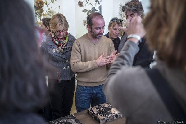 ©JD-L1009841-Thierry Merré, dans son atelier, à la Galerie Hasy.
