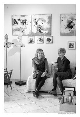 ©JJM-DSCF3196R-Fanny Pallaro et Doreen Le Marinel, dans l'atelier de Doreen.