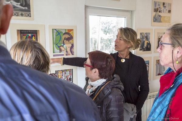 Florence BERINGS commente son travail, avec Brigitte GARCIA et MYCKIE