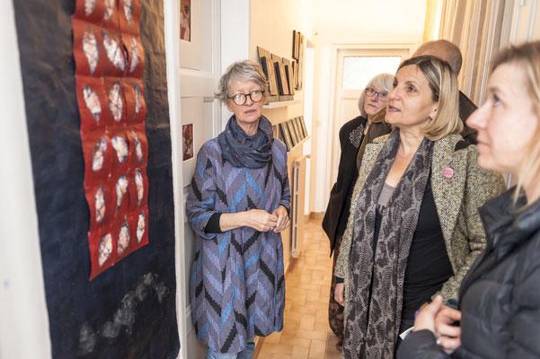 L'invitée de SyEym : Doreen Le Marinel, en compagnie de Françoise Lehay Brangoleau, Hélène Benzacar et Véronique Spenlé.