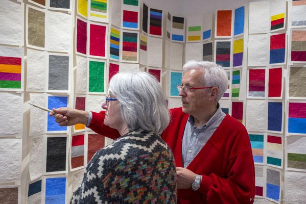 A la Galerie Hasy : Jacques HAYOTTE, avec Françoise LEHAY BRANGOLEAU.