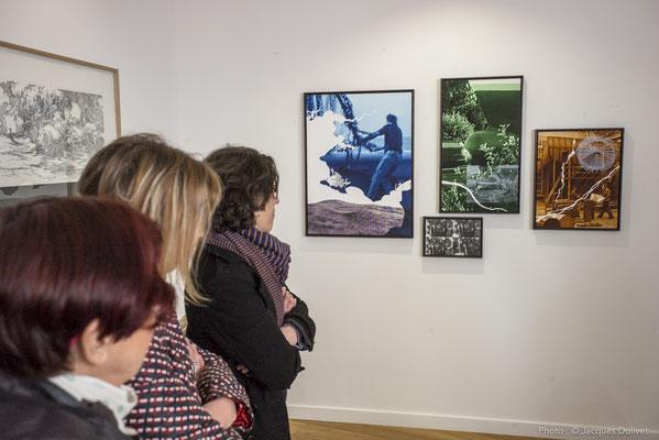 Une partie de l'installation réalisée par Thierry MERRÉ, à la Galerie Hasy.