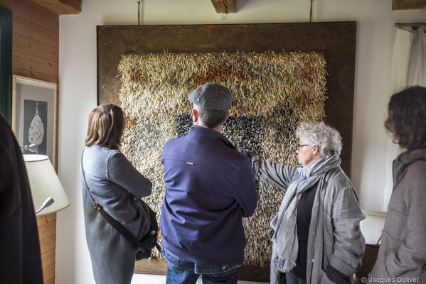 ©JD-L1009645-Michèle Riesenmey, dans son atelier.