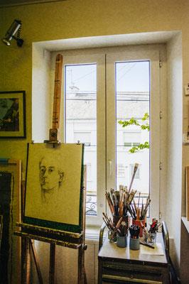 L'atelier de Marie-José Le Paih et Jacques Cornet.
