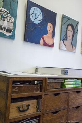 Détail dans l'atelier de Marie-José LE PAIH.