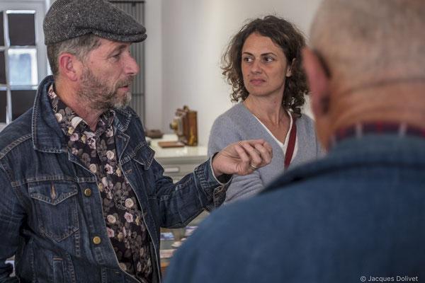 ©JD-L1009842-Stéphane Tellier, l'invité de Thierry Merré, avec Marielle Lefeuvre.