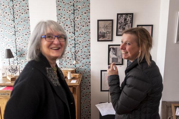 L'atelier de SyEym : Françoise Lehay Brangoleau et Véronique Spenlé.