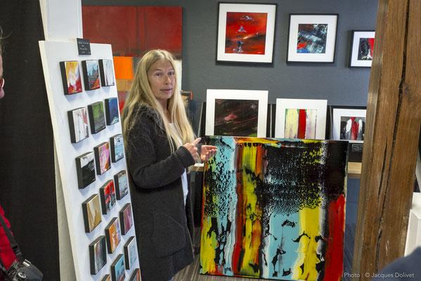 Carole BECAM présente son travail.