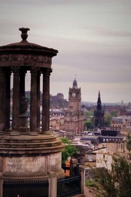Blick über Edinburgh, Schottland