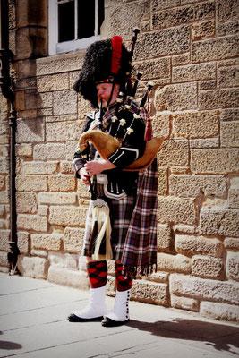 Dudelsackspieler, Edinburgh, Schottland