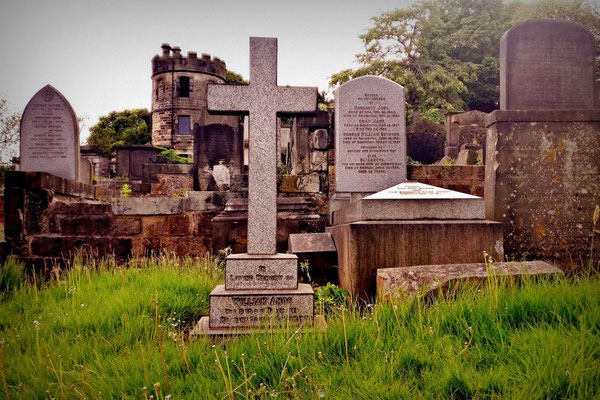 Historischer Friedhof in Edinburgh, Schottland