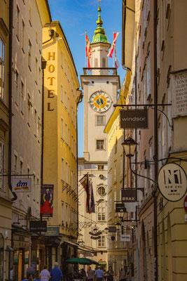 Getreidegasse, Salzburg, Österreich