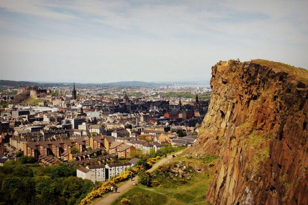 Blick vom Arthur's Seat, Edinburgh, Schottland
