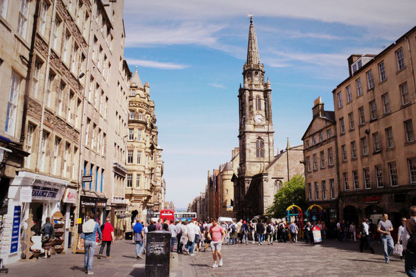 Die Royal Mile in Edinburgh, Schottland