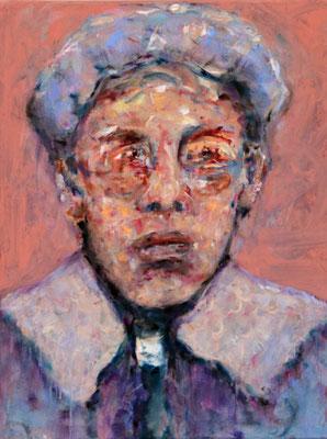 Swot (2021) oil, tempera, acrylic on canvas 55 x 42 cm