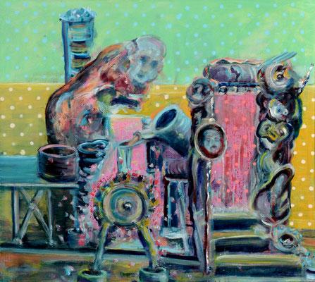 momentum-e (2014) oil on canvas 80 x 90 cm