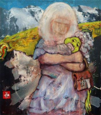 Heidi (2018) oil, tempera, varnish on canvas 65 x 57 cm