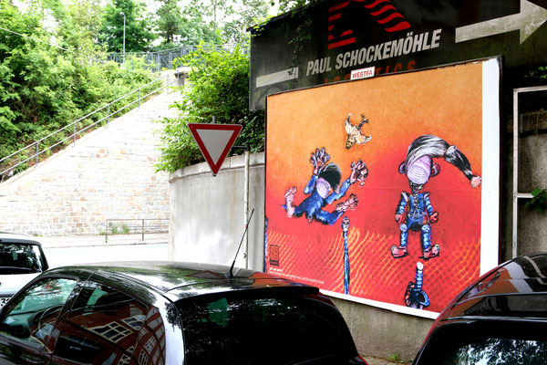 out and about - kunst geht raus!  Hamburger Str. Wuppertal 2020