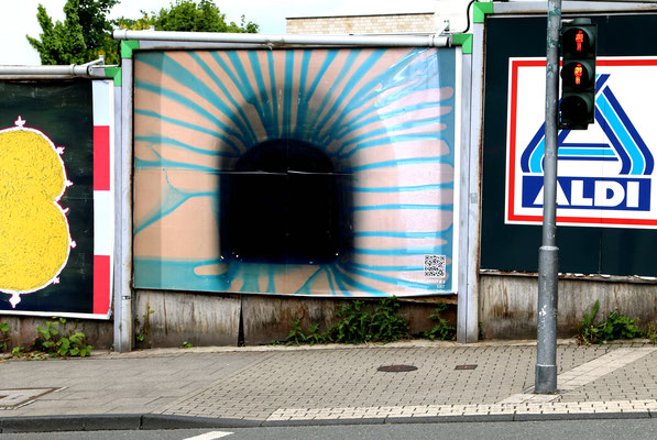 EXIT (2021) out and about #3,  Corona Billboard, Wuppertal