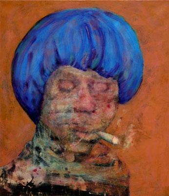 Sfumato (2018) oil, tempera on canvas 80 x 70 cm