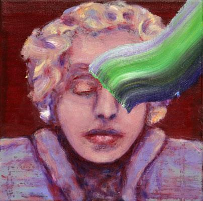 Vordenkerin (2019) oil on canvas 35 x 35 cm