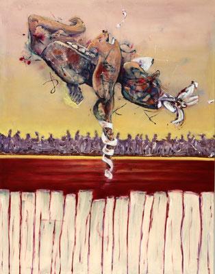 Vulnerability Bridge (2017) oil, tempera on canvas 180 x 140 cm