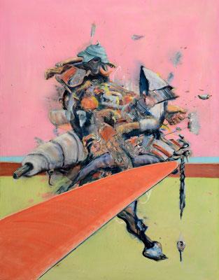 Thudding (2014) oil on canvas 180 x 140 cm