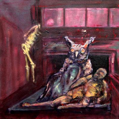 Tiefgarage (2019) oil, tempera on canvas 50 x 50 cm