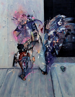 Somnolence (2015) oil, tempera, acrylic on canvas 180 x 140 cm