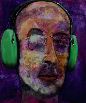 Myself (2015) oil, acrylic and varnish on canvas 80 x 68 cm