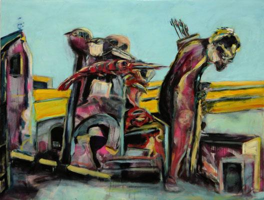 Tarascon chicken soup (2013) oil on canvas 120 x 160 cm