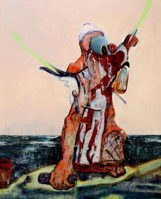 Under Scrutiny (2016) oil, tempera, acrylic on canvas 170 x 140 cm