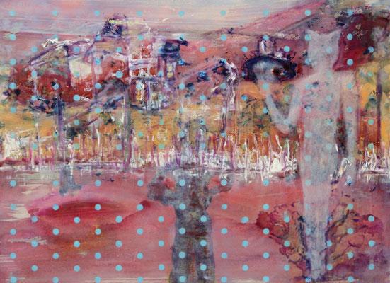 Boubastis (2020) oil, tempera, acrylic on Canson paper 56 x 76 cm