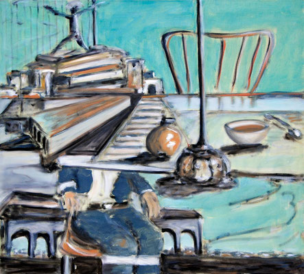 Afternoon (2011) oil on canvas 90 x 100 cm