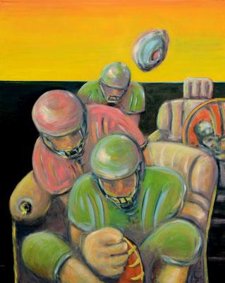 Homerun (2013) oil on canvas 150 x 120 cm
