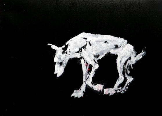 Hound Dog black (2013) oil on paper 32 x 45 cm