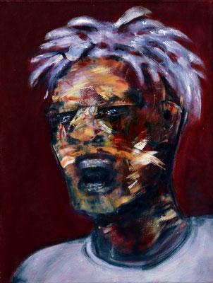 Mgungu Yabba Mgungu (2021) oil on canvas 55 x 42 cm