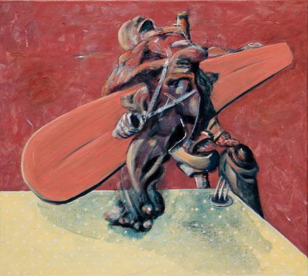 Orange Territory (2014) oil on canvas 90 x 100 cm