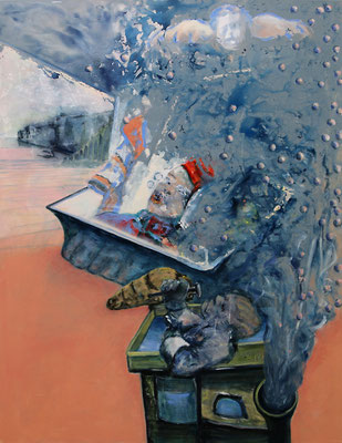 je ne sais quoi (2015) oil, acrylic on canvas 180 x 140 cm