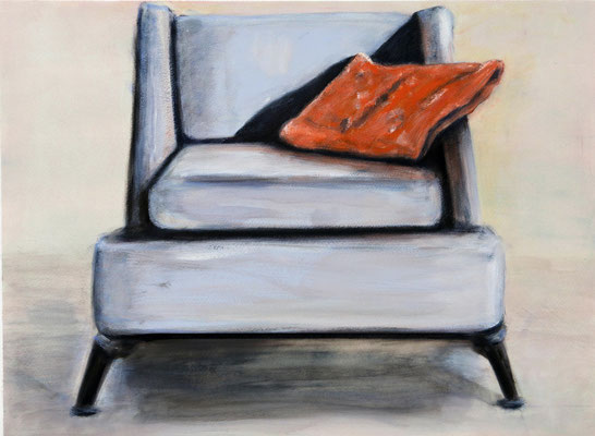 Arctic Chair (2017) oil, acrylic on Canson paper 56 x 76 cm