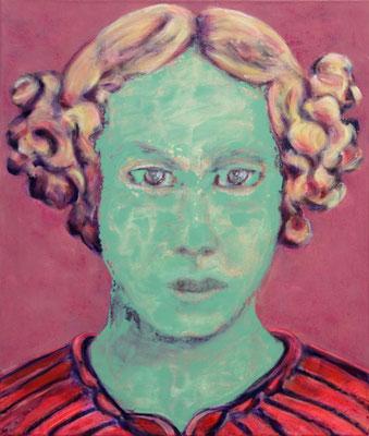 Greta Green Grief (2019) oil, tempera, acrylic on canvas 80 x 68 cm