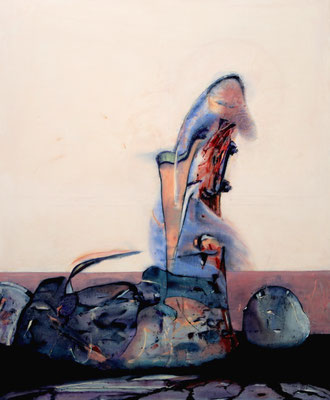Anodyne Utopia (2016) oil, tempera, acrylic on canvas 170 x 140 cm