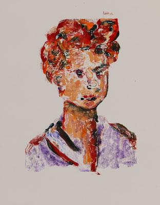 Vivienne 2 (2018) oil on paper 42 x 30 cm